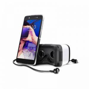 Smartphone Alcatel Idol 4 16 Go Gris foncé et casque de réalité virtuelle