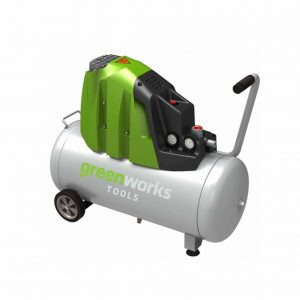 Compresseur d'air horizontal 50L, GREENWORKS Tools
