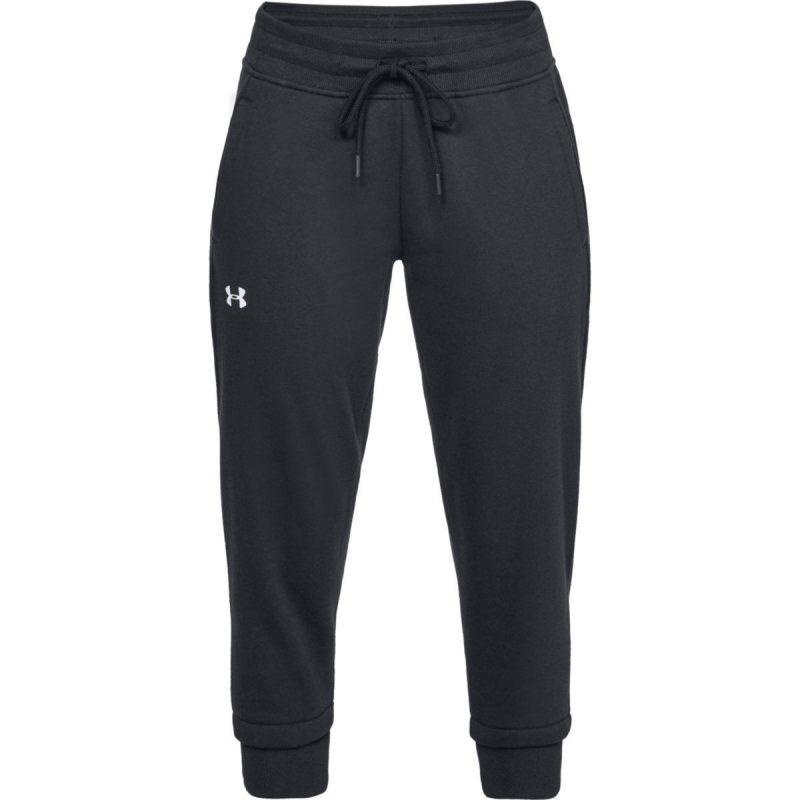 Under-Armour-femme-s-Cotton-Fleece-Slim-Jogger-Running-Noir-1