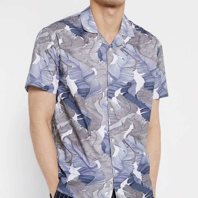 chemise-courte-minimum-noir-fleuri-homme-4