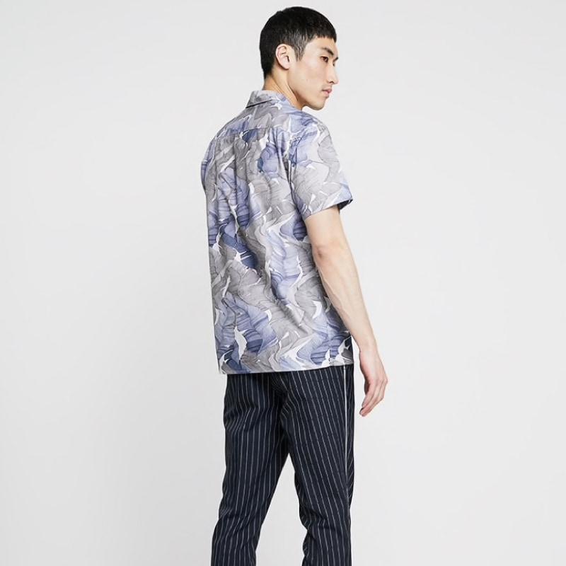 chemise-courte-minimum-noir-fleuri-homme-5