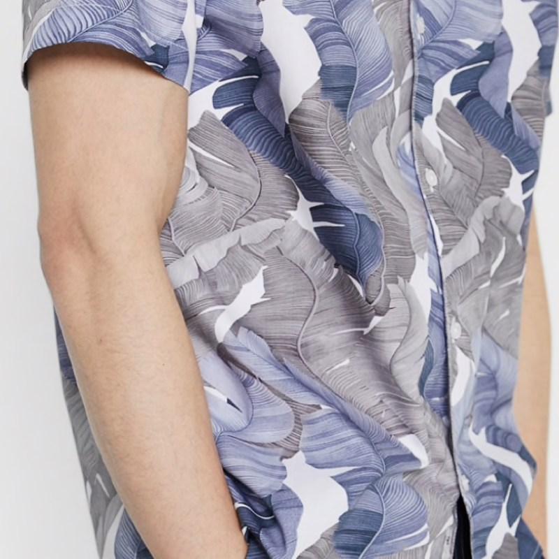 chemise-courte-minimum-noir-fleuri-homme-6
