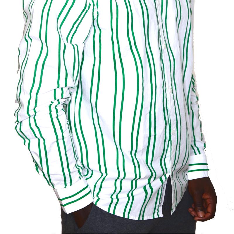 chemise-longue-blanc-rayure-vert-homme-minimum-1