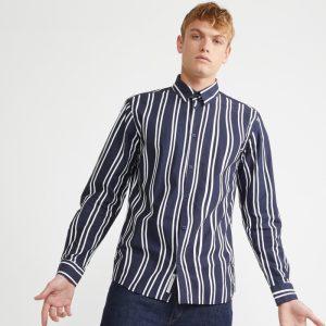 Chemise - MINIMUM  Troen Long Sleeved Shirt Homme