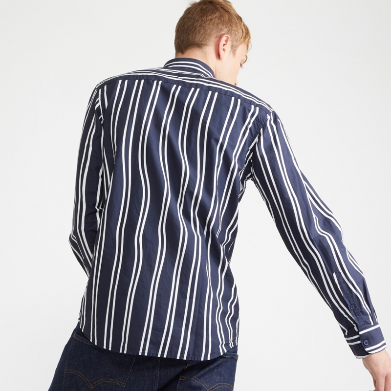 chemise-longue-bleu-rayure-blanc-homme-minimum-2