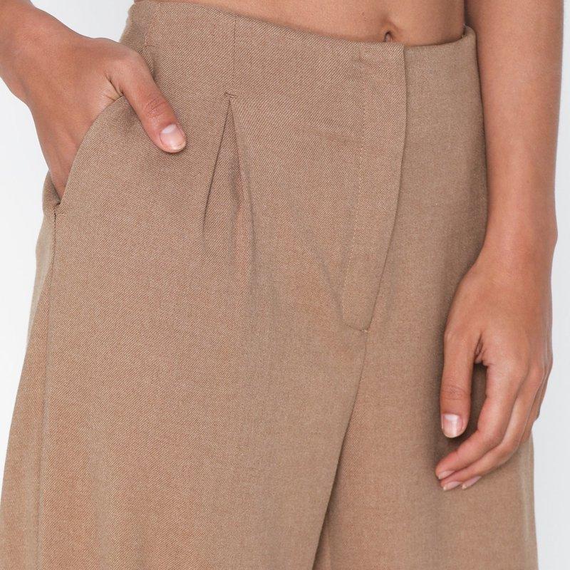 pantalon-selected-femme-marron-2