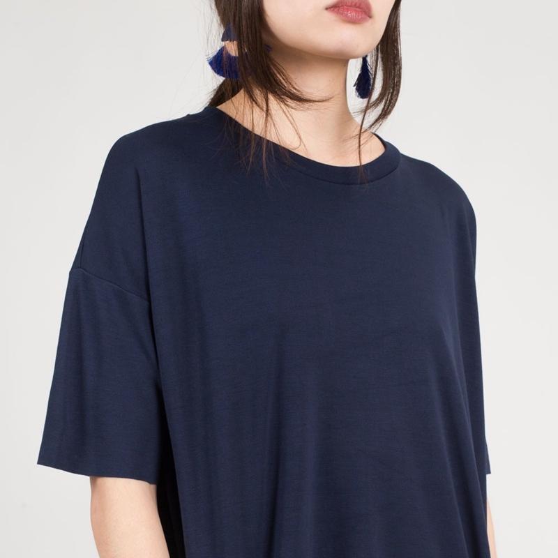 robe-courte-bleu-gris-femme-minimum-1