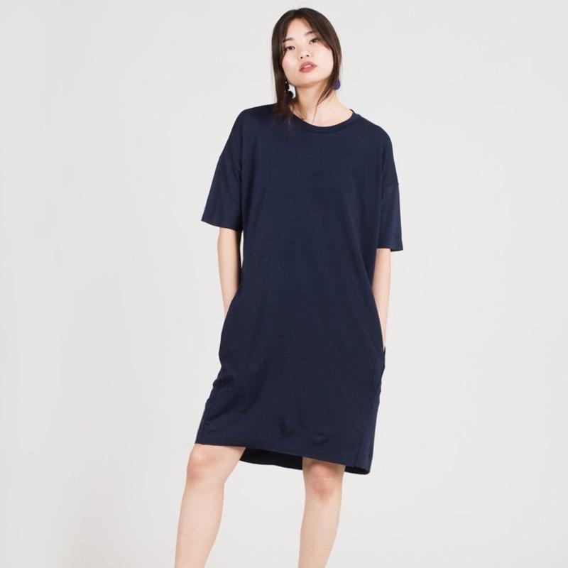 robe-courte-bleu-gris-femme-minimum-2