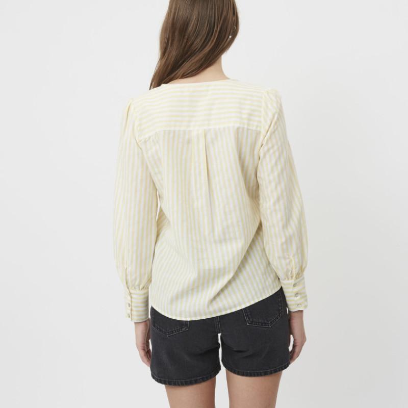 shirt-chemise-femme-jaune-minimum-2