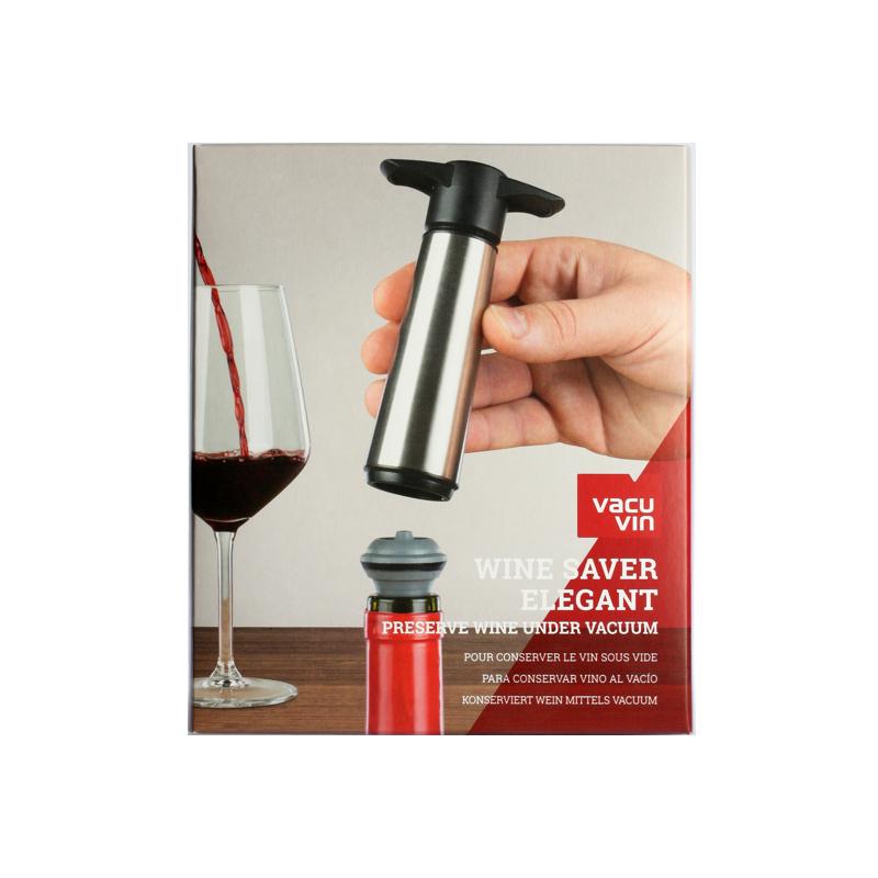 0002317-Vacu-Vin-Weinpumpe-Edelstahl-Wine-Saver-Elegant-Stainless-Steal-Ausgiesser-Stopfen