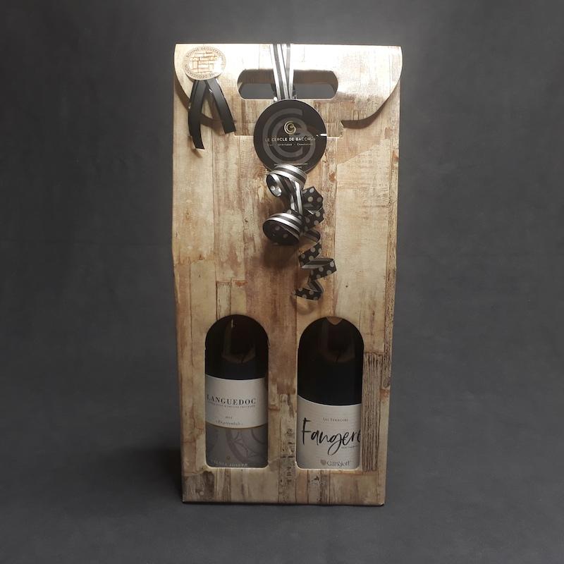 coffret de vin rouge de marque Gangloff et calmel joseph