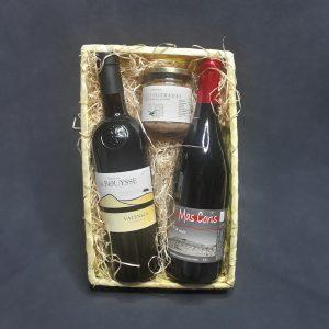 Panier Garni 2 Vins Rouges, Domaine La Bouysse, Mas Coris et Pâte d'Olives