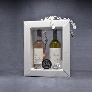 Coffret Cadeau 2 Vins, 1 Vin Rosé et 1 Vin Blanc Domaine du Trésor Pays D'OC