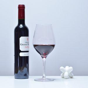 2 Verres à vin rouge Exquisit de Stölzle Lausitz, 480 ml, Marquage Blanc