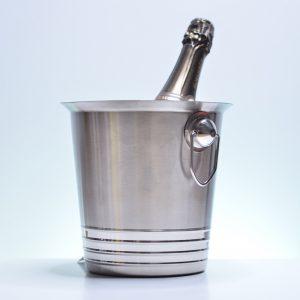 Seau à Glaçon, Vin et Champagne Inox Brossé