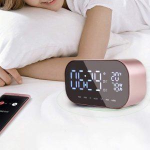 Smart Case Réveil Numérique Bluetooth Avec Haut Parleur et Ecran LED