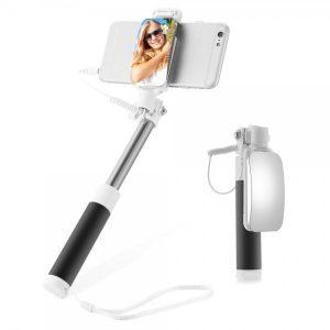 Smart Case Perche A Selfie Filaire Rétractable Avec Miroir