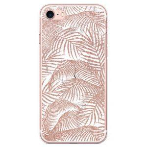 Smart Case Coque Pour Téléphone Pailletée Motif Palmiers iPhone 7/8