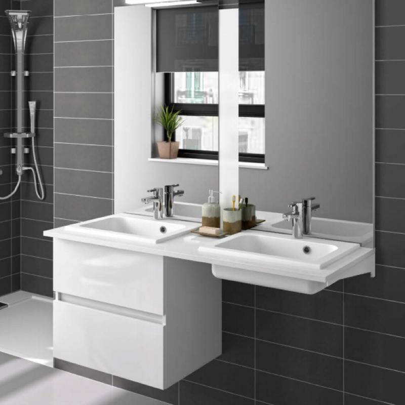 meuble-sous-plan-prefixe-plus-120cm-2-tiroirs-blanc-brillant---aquarine-ref-241463-p-image-1733359-grande